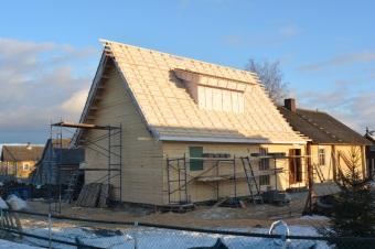 Крыша готова к монтажу черепицы.