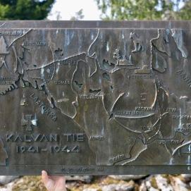 Карта боев в Карелии на мемориале.